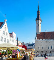 Oldtown central square Tallinn