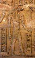 Hieroglyphic carvings of Sebek god