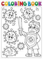 Coloring book doctor fighting virus 2