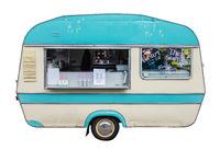 Retro Vintage Food Truck Or Caravan