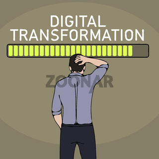 digital transformation concept business man