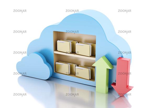 storage in cloud. Cloud computing concept.