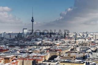 City view Berlin in winter