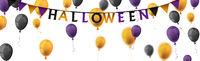 Halloween Balloons Long Header