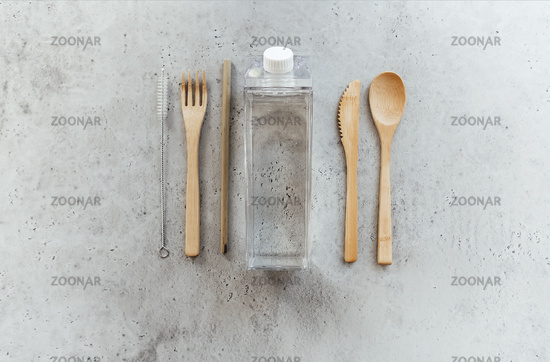 Zero waste utensils on table