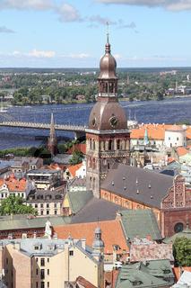 Der Dom von Riga und Stadtpanorama