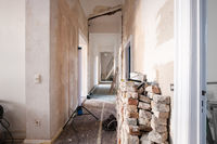 corridor in flat during renovation - renovate home concept