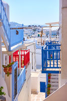 Stairs and balconies of Mykonos