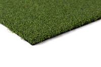 Section of Artificial Turf Grass On White Background