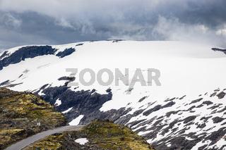 Blick vom Berg Dalsnibba in Norwegen