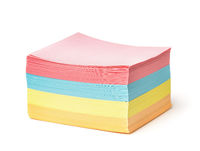 Stack of blank multicolor square note paper
