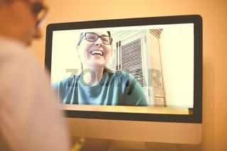 Women talking on video chat during coronavirus