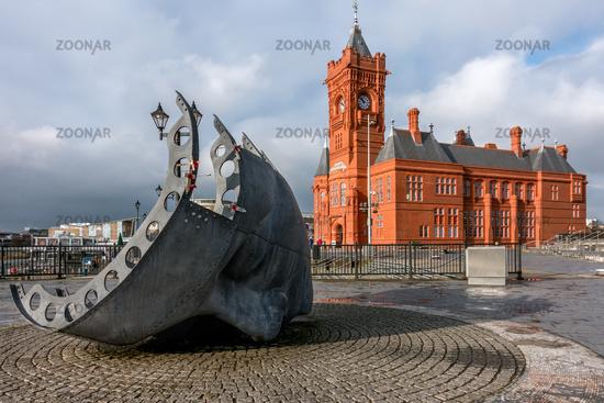 Merchant Seafarers' War Memorial in Cardiff Bay