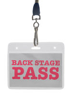 Back Stage Pass In A Lanyard