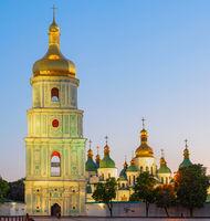 Sophia Cathedral church twilight Kyiv