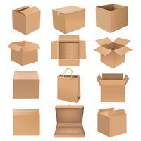 Shipping Box Big Set Isolated White background