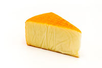 Cheese triangle isolated on white background