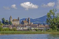 Rapperswil mit Burg und Altstadt, Kanton St. Gallen