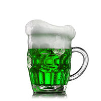 Natural organic green beer in the glass.