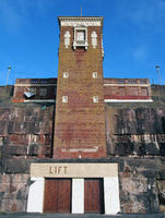 The Cabin Lift at Blackpool North Shore Boating Pool a grade 2 listed building built in 1930