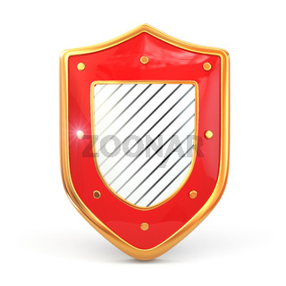 Shield on white isolated background. Security concept.