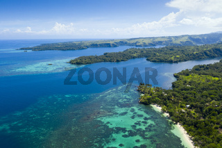 Fjordlandschaft von Cape Nelson, Papua Neuguinea