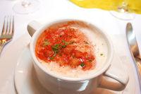 Tomatensuppe mit Cremefraiche