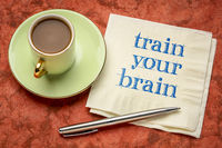 train your brain motivational note