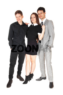 Portrait image of a sister with her two brothers