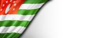 Abkhazian flag isolated on white banner