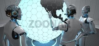 3 Robots Globe USA