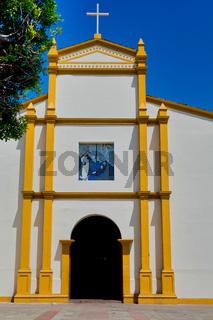 Church of San Francisco facade in Leon, Nicaragua