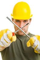Bauarbeiter mit Werkzeug