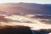 Aerial view of Healesville at Sunrise