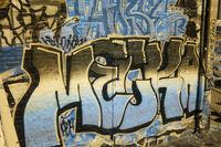 Gothenburg Harbour with grafitti art