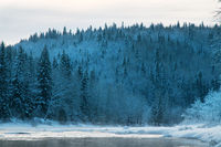 Russian Siberia in winter