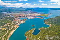 Aerial view of Ploce, harbor town in Neretva valley