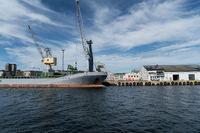 Getreidesilo im Hafen von Larvik