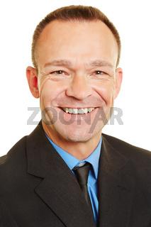Bewerbungsfoto von Mann im Anzug