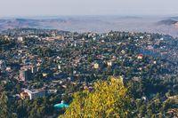 Gondar city with Fasil Ghebbi, Ethiopia