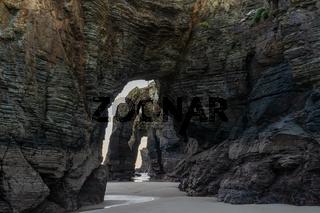 the Playa de las Catedrales Beach in Galicia in northern Spain
