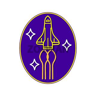 Space Shuttle Cruising Mono Line Oval
