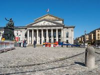 National Theatre at Max-Joseph Square - Main Location of Bavarian State Opera - Munich