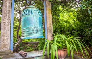 Old Japanese bell finely crafted in bronze