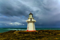 The famous white lighthouse Waipapa