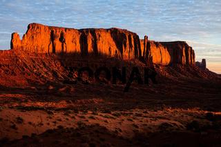 First Rays of the Sun Strike Elephant Rock
