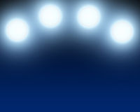 Blue abstract spotlight background.