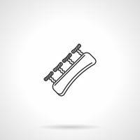 Black line vector icon for finger gripper