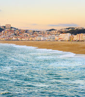 Skyline  Nazare  beach ocean Portugal