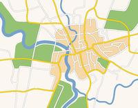 Generic city map illustration